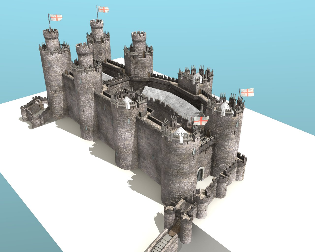 Conwy Castle on Medieval Castle Floor Plans
